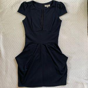 Navy Blue Mini Dress